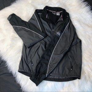 Black and Grey North Face Jacket